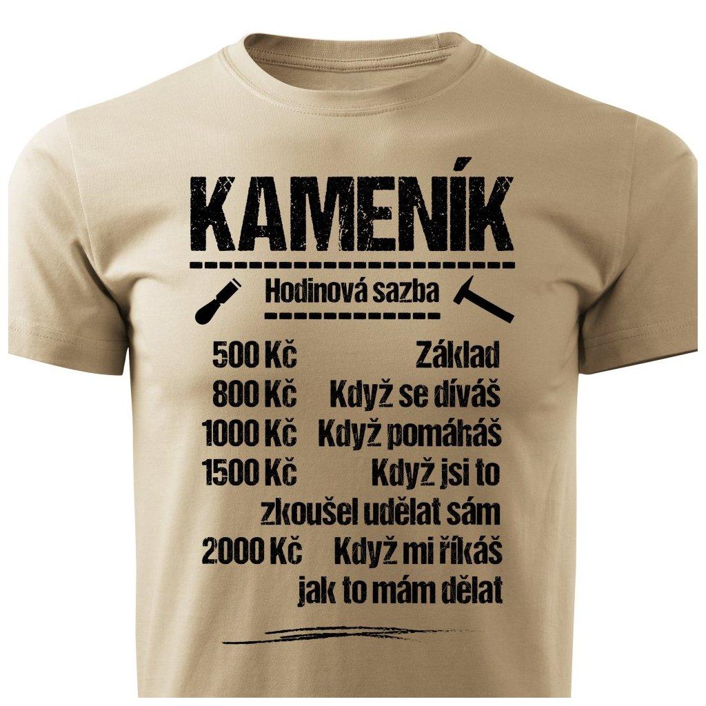 Pánské tričko Tričko Kameník - sazba