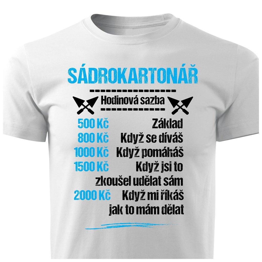Pánské tričko Tričko Sádrokartonář - sazba