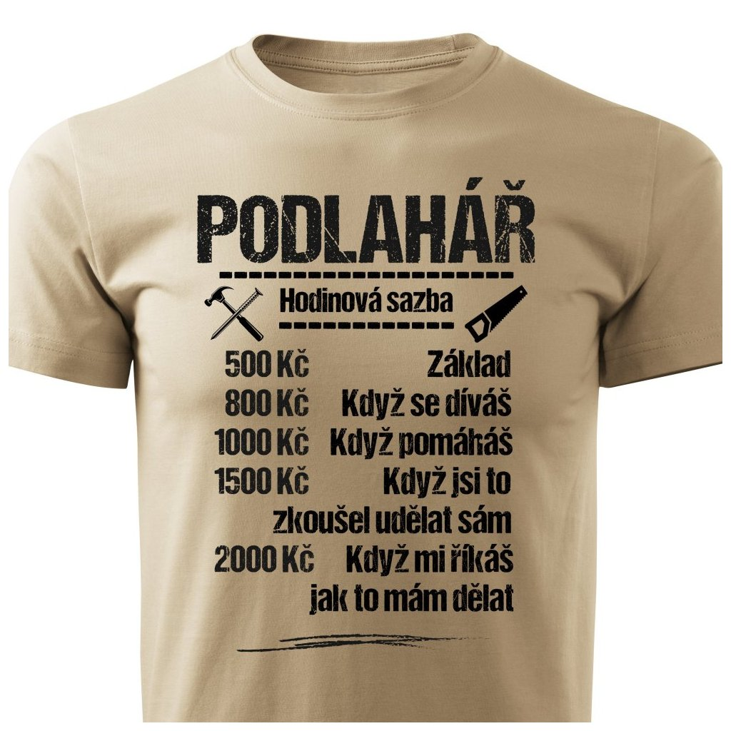 Pánské tričko Tričko Podlahář - sazba