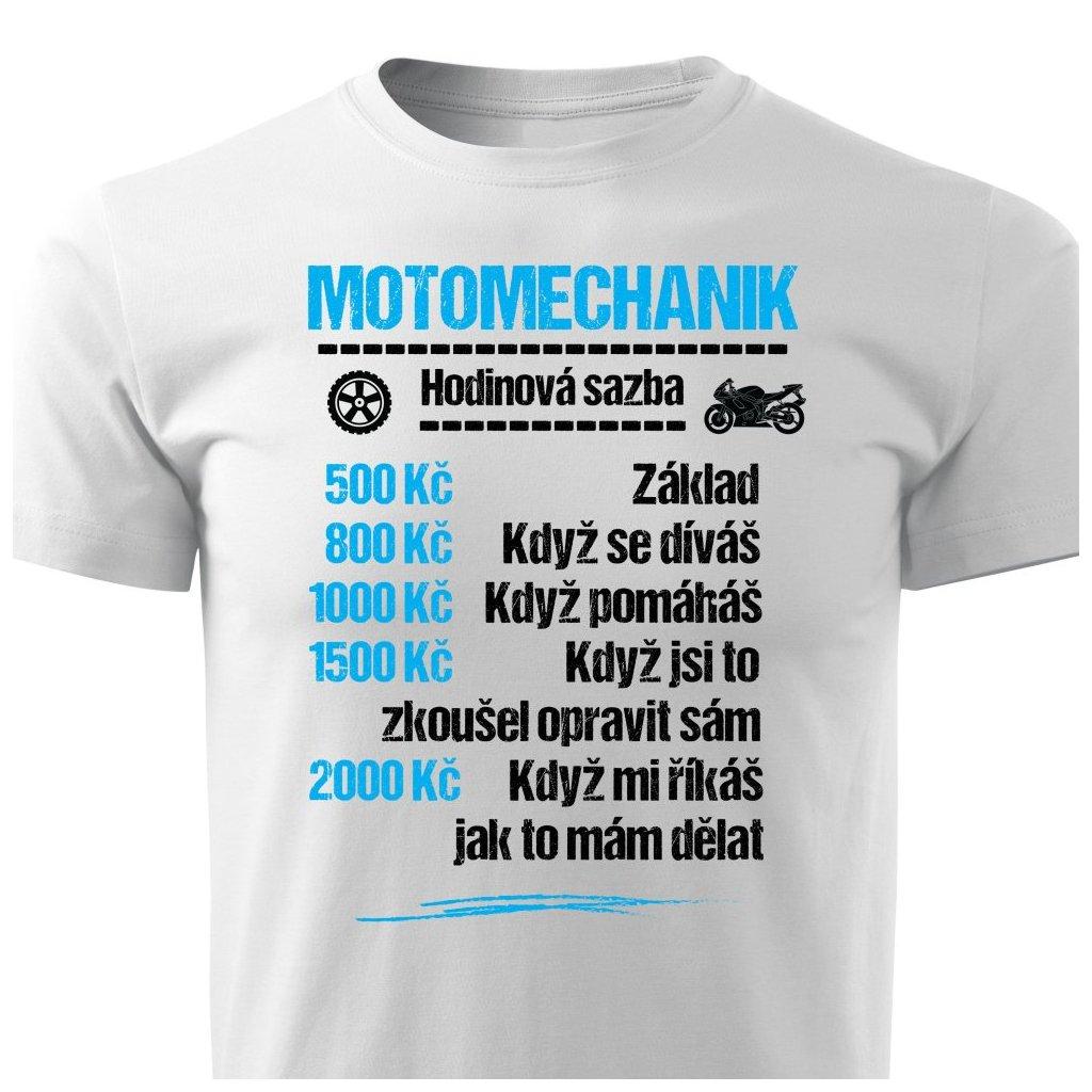 Pánské tričko Tričko Motomechanik - sazba