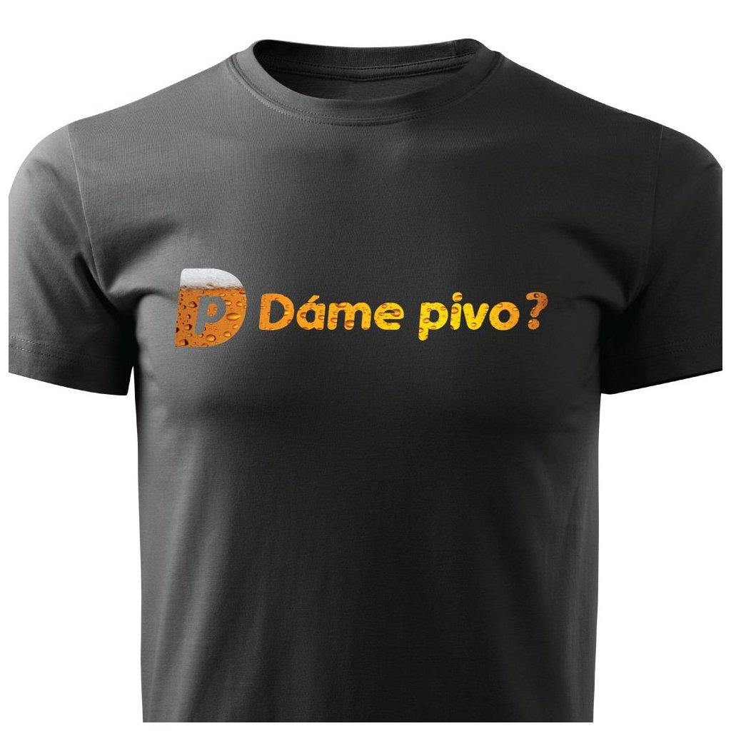 Pánské tričko Dáme pivo?