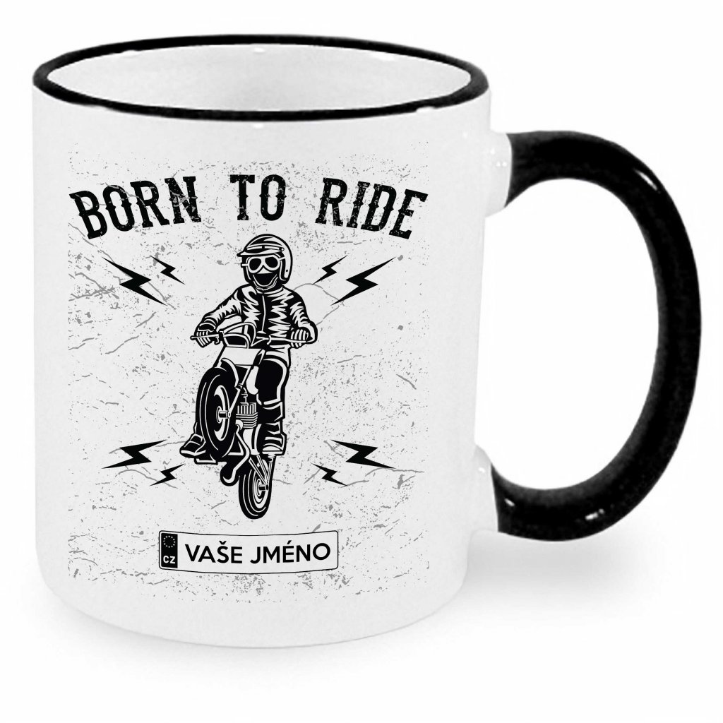Hrnek - Born to ride - motocross