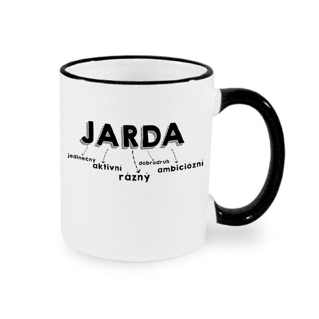 Hrnek - Jarda - černý