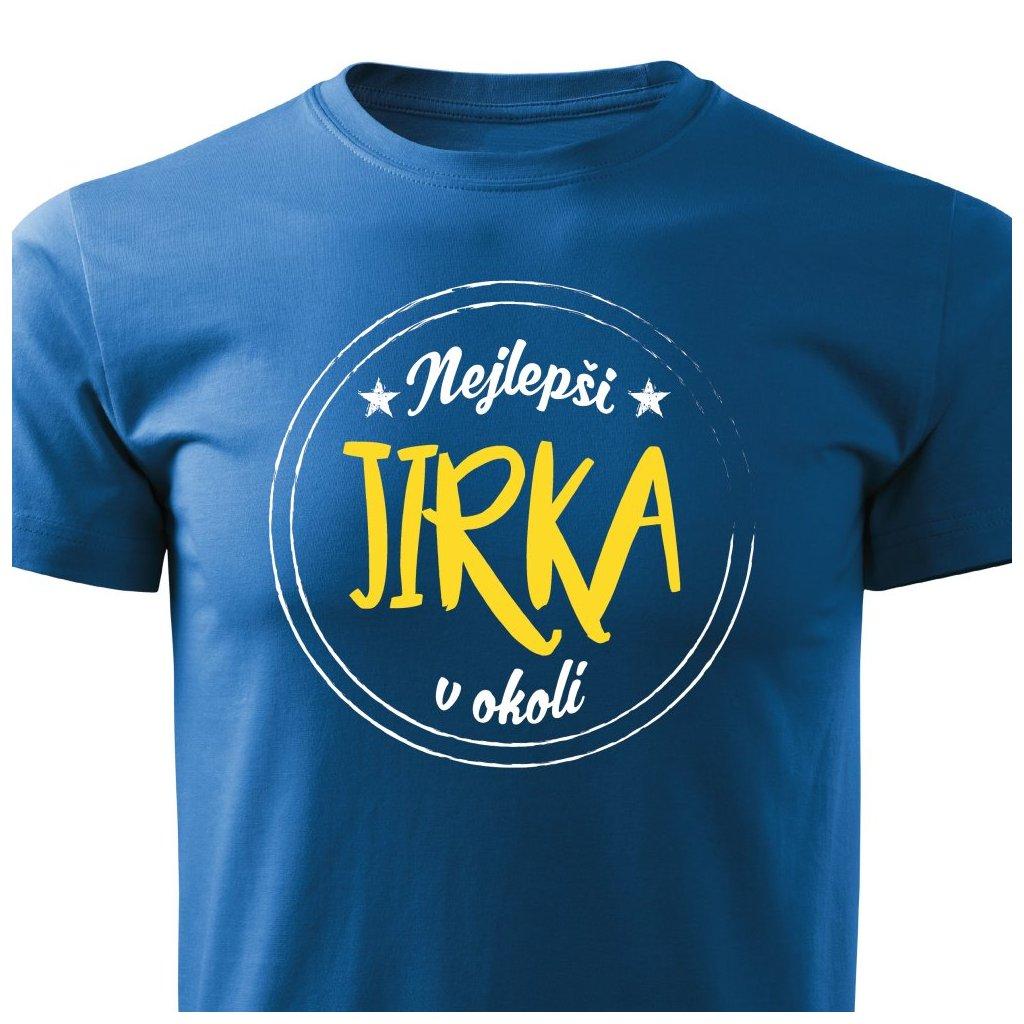 Pánské tričko Nejlepší Jirka v okolí - modré