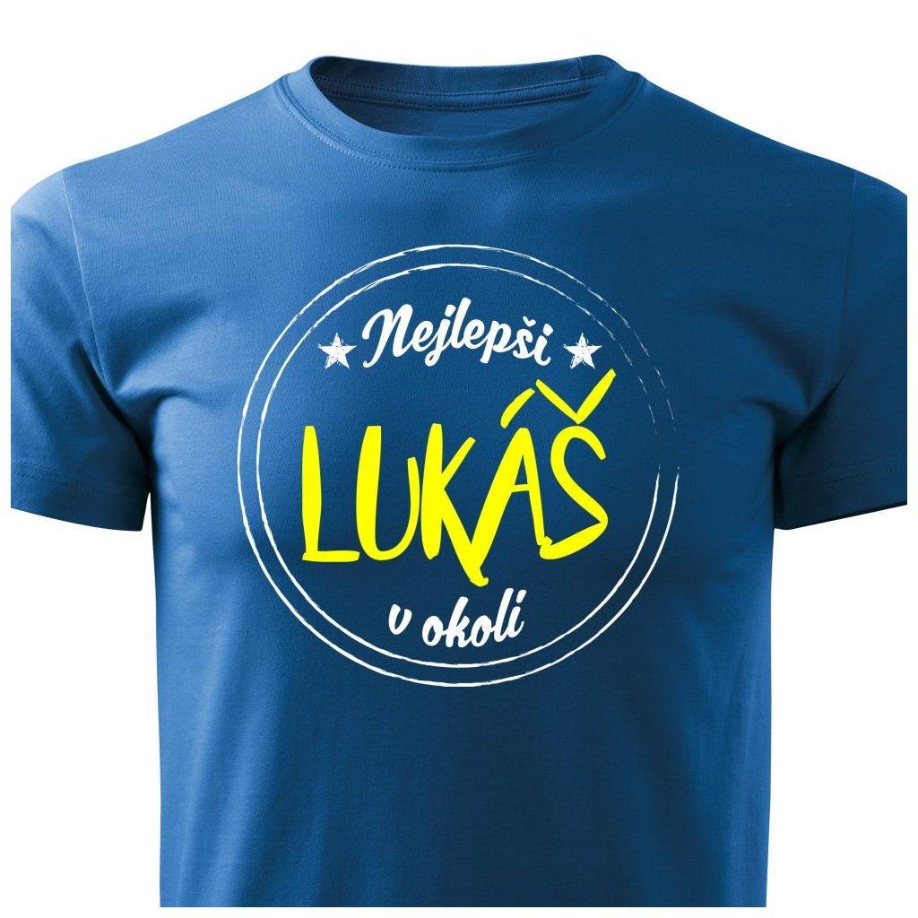 Pánské tričko Nejlepší Lukáš v okolí - modré