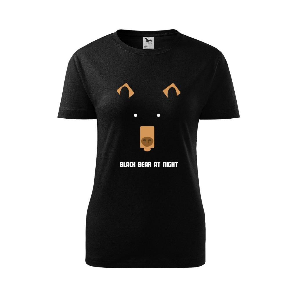 Dámské tričko Medvěd v noci