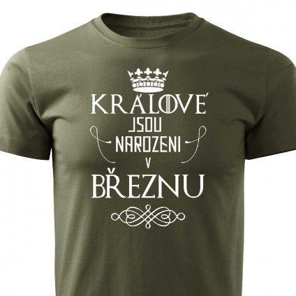 Pánské tričko Králové jsou narozeni v březnu