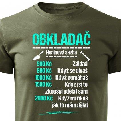 Pánské tričko Tričko Obkladač - sazba
