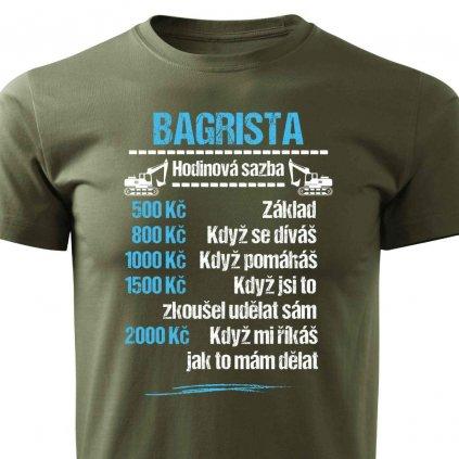 Pánské tričko Tričko Bagrista - sazba
