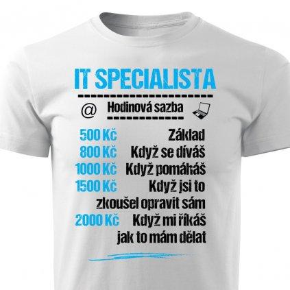 Pánské tričko Tričko IT specialista - sazba