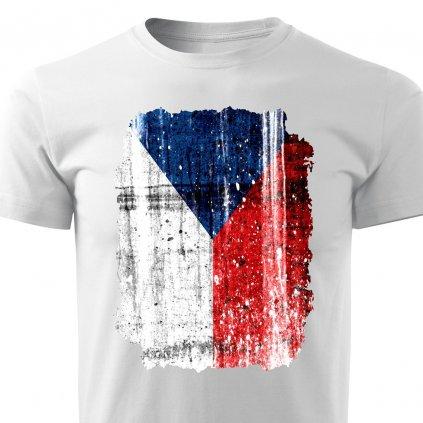 Pánské tričko Česká vlajka