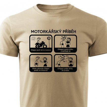 Pánské tričko Motorkářský příběh