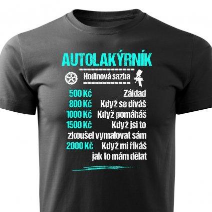 Pánské tričko Tričko Autolakýrník - sazba černé