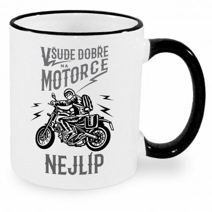 Hrnek - Všude dobře, na motorce nejlíp