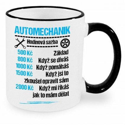 Hrnek Automechanik - sazba