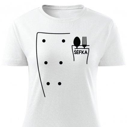 Dámské tričko Rondon pro kuchařku - bílé