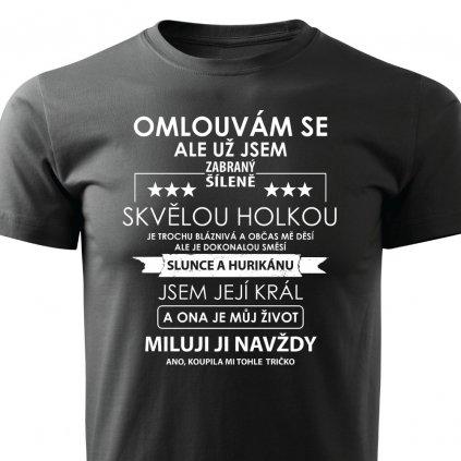 Pánské tričko Omlouvám se ale už jsem zabraný - černé