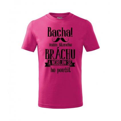 Dětské tričko Bacha, mám šíleného bráchu