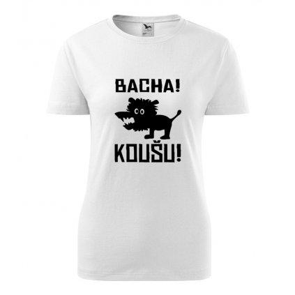 Dámské tričko Bacha, koušu!
