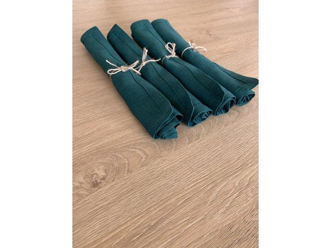 prostírání/ubrousky 4 ks - smaragdová