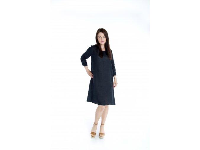 Šaty Anna 100% len - černá