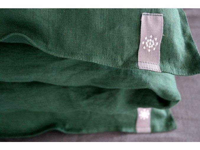 povlak na polštář/polštářek - smaragdová
