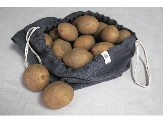 """Lněný sáček """"na brambory"""" - velký"""