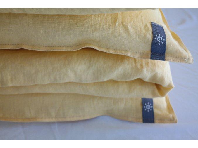 povlak na polštář/polštářek - žlutá koňak