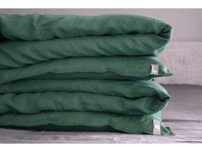 Povlak na přikrývku 100% len - smaragdová