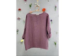 Tunika Petra 100% len - lilková fialová