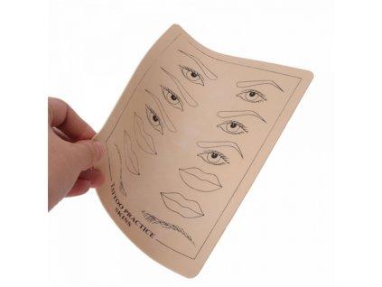 Tréninková kůže - šablona na vláskované obočí