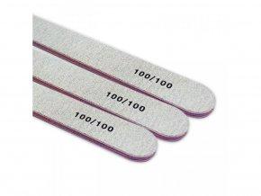 Pilník na nehty šedý hrubost 100/100 sada 10ks