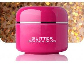 Barevný gel golden glow glitter 5 ml