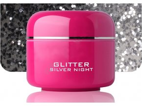 Barevný gel silver night glitter 5 ml