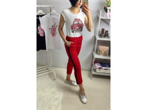 Kalhoty Eliss red