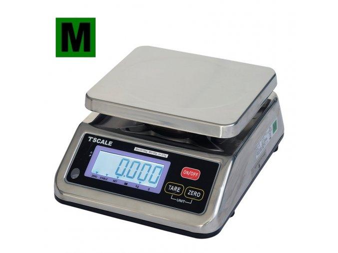 TSCALE S29B, 3/6kg, 190mmx230mm  Obchodní gastro váha do kuchyní, výroben a skladů, IP-67