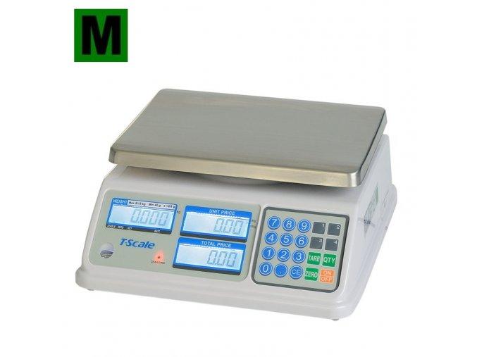 TSCALE SP, 6/15kg, 200mmx260mm  Obchodní pultová váha s výpočtem ceny v nízkém provedení