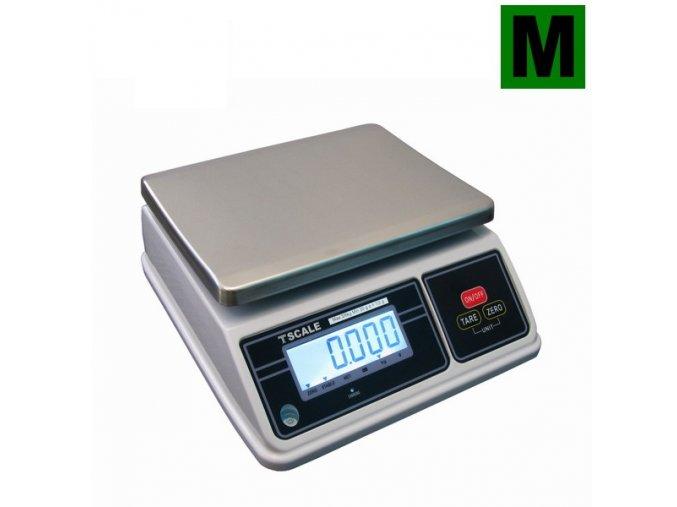 TSCALE SW, 6;15kg/2;5g, 200mmx260mm  Obchodní gastro váha do kuchyní, výroben a skladů - dva displeje, IP-65