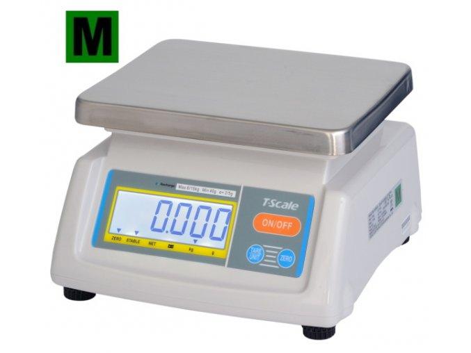 TSCALE T28-15D, 6/15kg, 190mmx230mm  Gastro váha do kuchyní, výroben a skladů - dva displeje