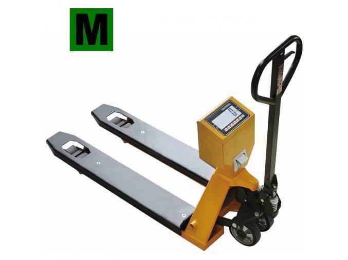 TSCALE TPSIIM, 2t, 555mmx1160mm, vážicí paletový vozík s tiskárnou