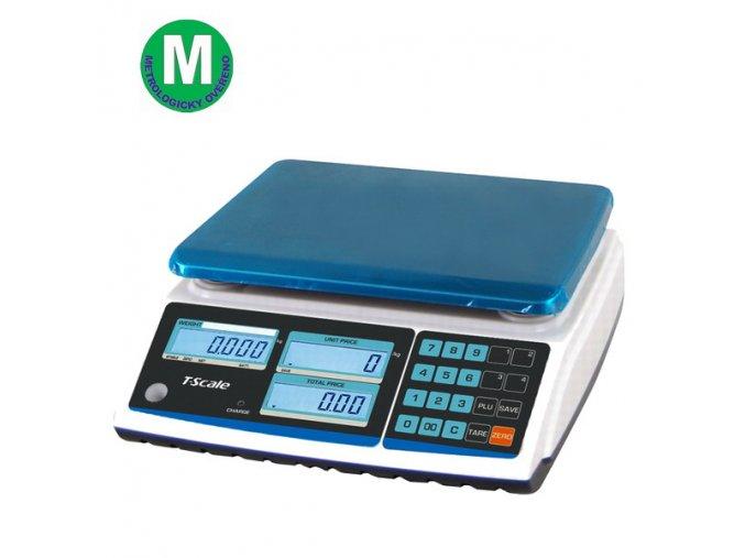 TSCALE ZTP, 6/15kg, 270mmx200mm  Obchodní pultová váha s výpočtem ceny v nízkém provedení