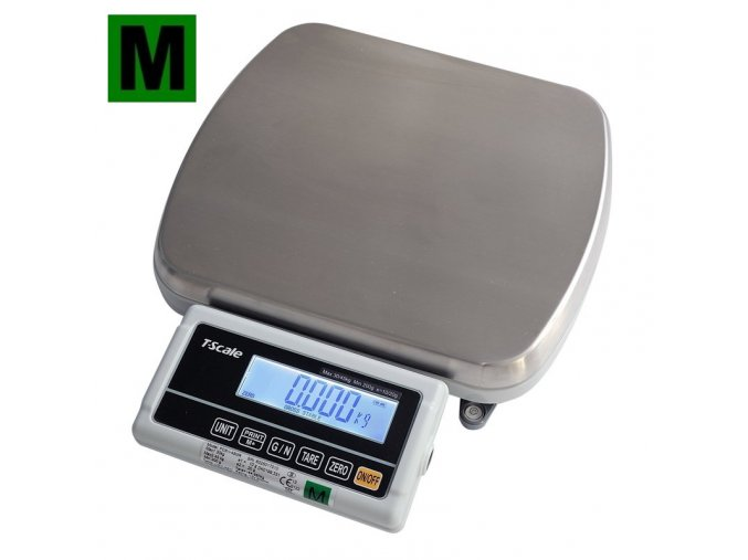 TSCALE FOX-I, 30;45kg/10;20g, 310x270mm, plast/nerez  Ověřená váha s dvojím rozsahem