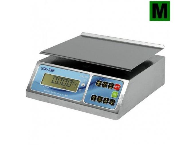 ZV KS1-4, 4 kg, 245mmx190mm  Nerezová gastro váha pro kuchyně, sklady a výrobu