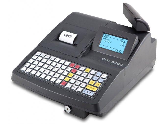 CHD 5850, obchodní pokladna  Obchodní pokladna včetně pokladní zásuvky připravená pro EET (e-tržby), vhodná do velkých prodejen