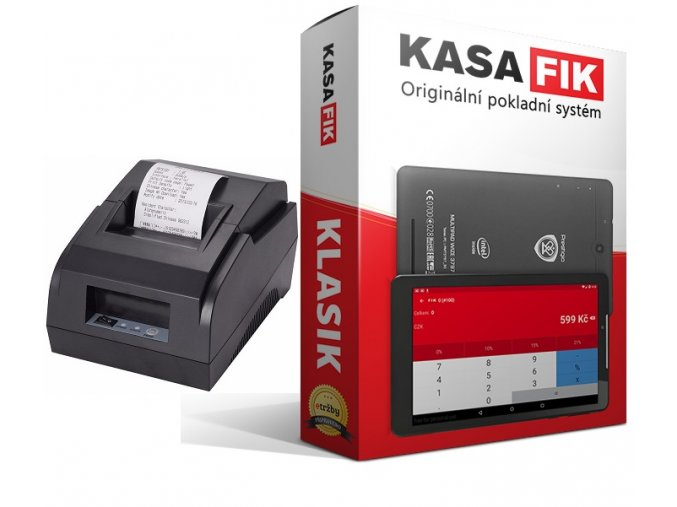 KASA FIK KLASIK - RONGTA 58 tiskárna (2 Základní zprovoznění a certifikace (+800 Kč bez DPH))