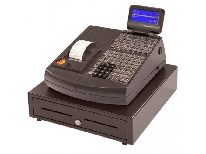 Quorion QMP 2144 2XRS/USB/OL LCK, registrační pokladna se zámkem černá