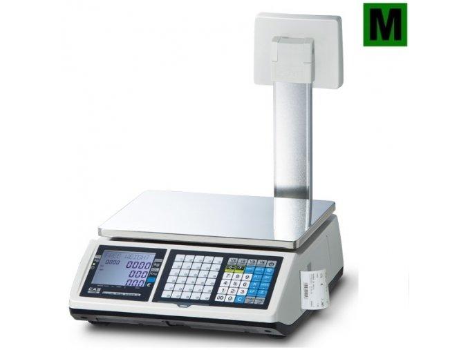 CAS CT-100 6P, váhopokladna  Váha s tiskem účtenek s displejem na stativu