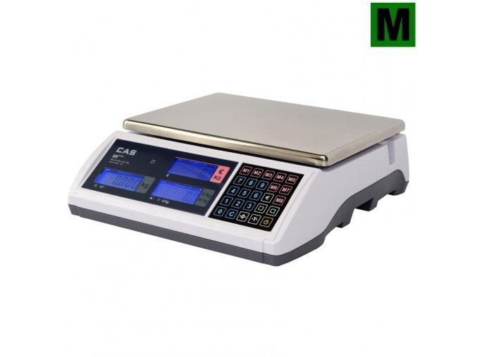 CAS ER Plus 30L  Obchodní pultová váha s výpočtem ceny a displejem na těle váhy