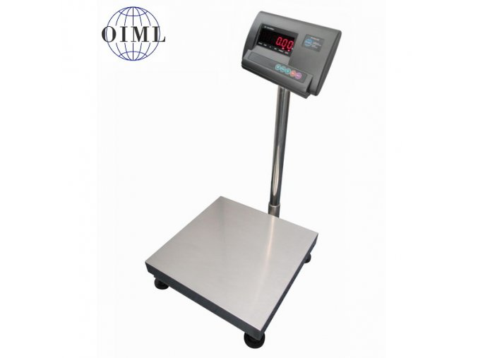 LESAK 1T3030LN-A12-60, 60kg, 300x300mm, lak/nerez (1 Váha bez ověření)