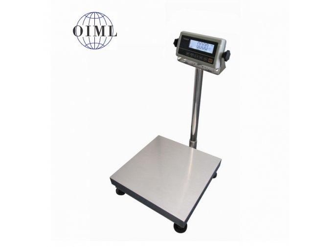 LESAK 1T3030LN-RWP/DR, 30;60kg/10;20g, 300x300mm, lak/nerez (1 Váha bez ověření)
